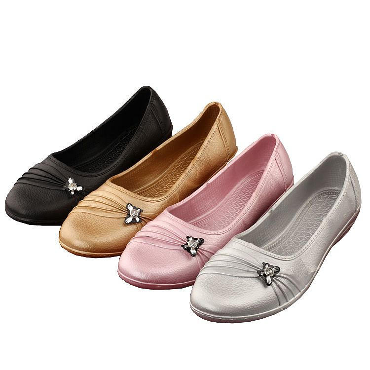 2015 spring and autumn casual women's slip-resistant water shoes rubber shoes bow low short rain boots LJF02114(China (Mainland))