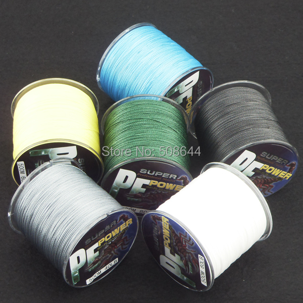 braided fishing line Spool 500 meters 100% PE line free shipping 4 strands