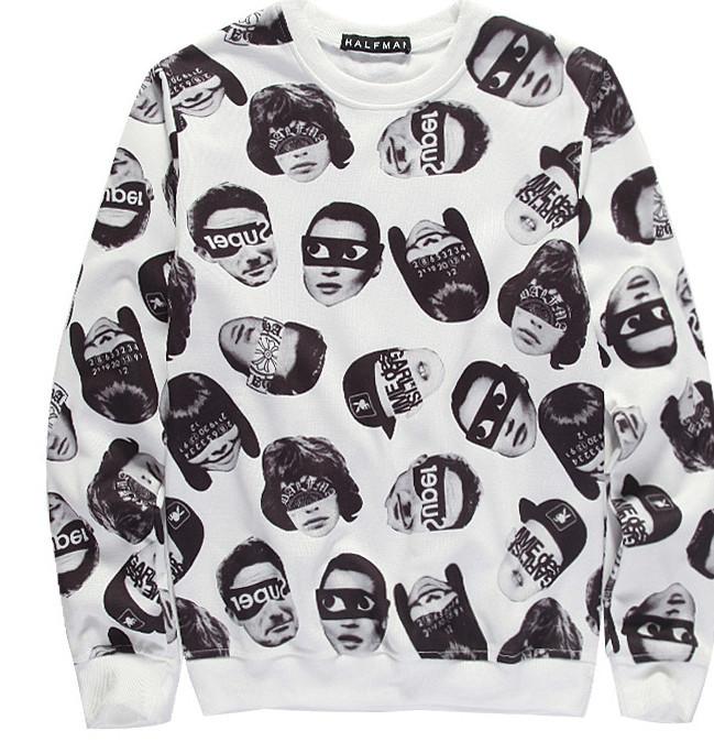 2015 New Fashion Spring Cotton Sweatshirt Personality Pictures Printed Autumn Winter Hoodies Z7s,!  -  Zero 7s store