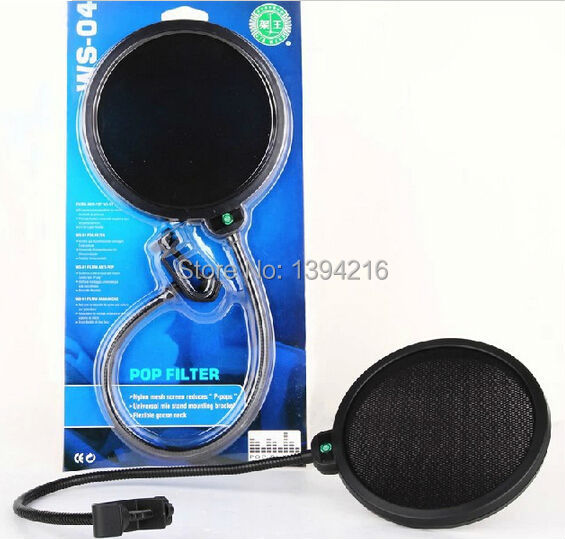Double Layer Mic Wind Screen Pop Filter/ Swivel Mount /Studio Microphone/ Mask Shied For Speaking Recording 2pcs free shipping(China (Mainland))