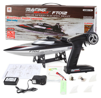Fei Lun FT012 Brushless Motor 2.4G RC Boat with Auto Rectifying Deviation Direction Function Control Remote Boat - EU Plug