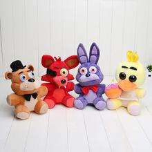 25cm Five Nights At Freddy's 4 FNAF Freddy Bear foxy Bonnie Chica Plush Toys stuffed doll kids gift Freddy Fazbear plush(China (Mainland))