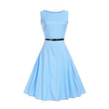 Summer Dress 2017 Casual Vintage Sexy Audrey Hepburn Dress Plus Size 2XL(China)