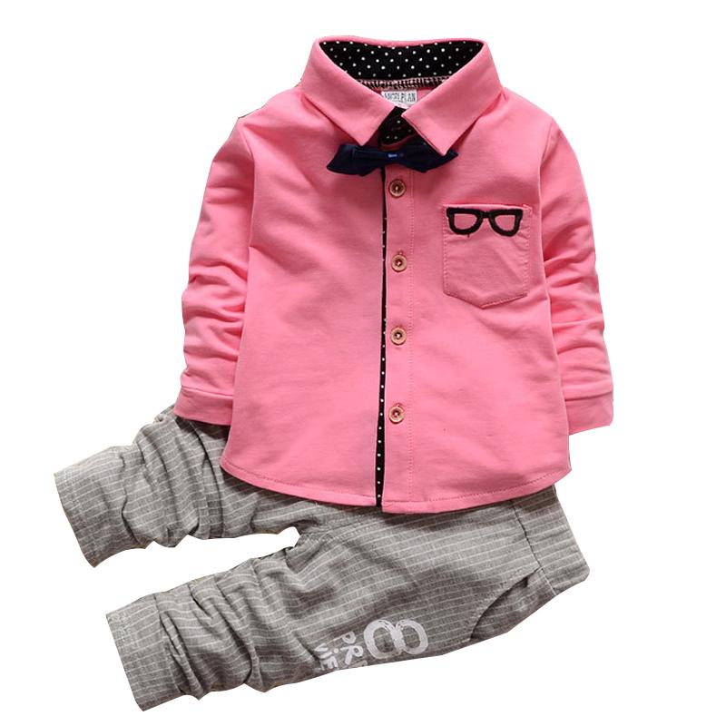 Kids clothes Winter long Sleeve t-shirt + pants suit 2Pcs set baby boys suits sets gentleman toddler boy clothes birthday dress(China (Mainland))