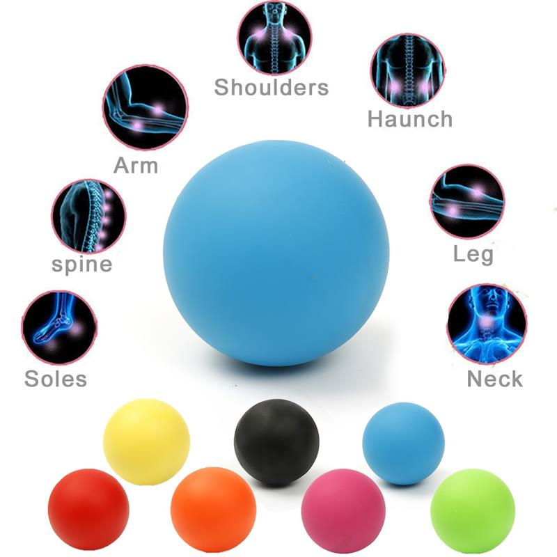 High Quality Rubber 6cm Ball Tool Mobility Trigger Point Body Massager Arm Back Leg Muscle Pain Relief Health Care 7 Colors  High Quality Rubber 6cm Ball Tool Mobility Trigger Point Body Massager Arm Back Leg Muscle Pain Relief Health Care 7 Colors  High Quality Rubber 6cm Ball Tool Mobility Trigger Point Body Massager Arm Back Leg Muscle Pain Relief Health Care 7 Colors