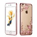 New Rhinestones Transparent Soft TPU Plating Case For iPhone 5s cases 6 5 6s 6 Plus