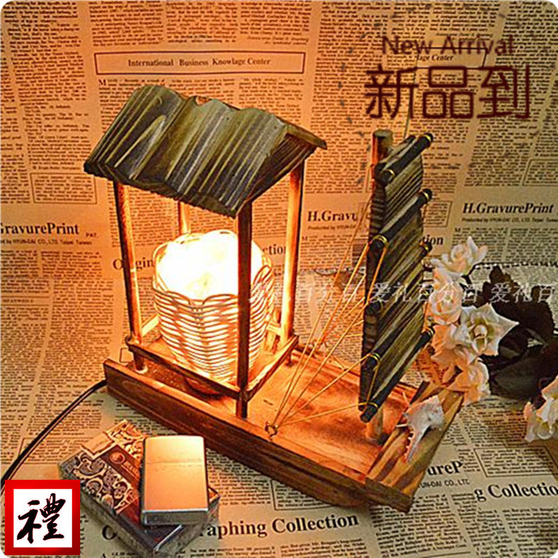 Free Shipping Local shipping adjustable salt crystal lamp bedroom lamp bedside lamp anion health lamp Wooden birthday gift<br><br>Aliexpress