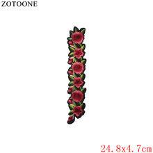 Zotoone lobo flor estrela remendo para roupas de ferro em costurar em bordado carta remendo tecido crachá aplique diy vestuário acessório a(China)
