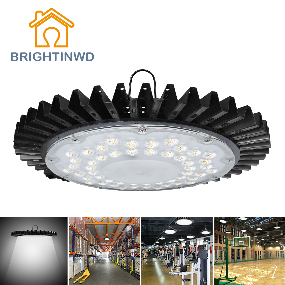 High Lumen 100W 220V-240V LED Ultra-thin UFO High Bay Light SMD2835 Warm Cold White Industrial Led Lamp For Factory/Warehouse(China (Mainland))
