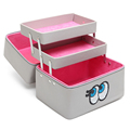 Korean Women Cosmetic Bag Professional Large Capacity Makeup Box Lovely Eyes with Compartment Portable Waterproof Cosmetics