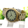 BOBO BIRD F19 Green Sandalwood Wood Men s Wristwatch Japan Movement Quartz Watch Classic Folding Clasp