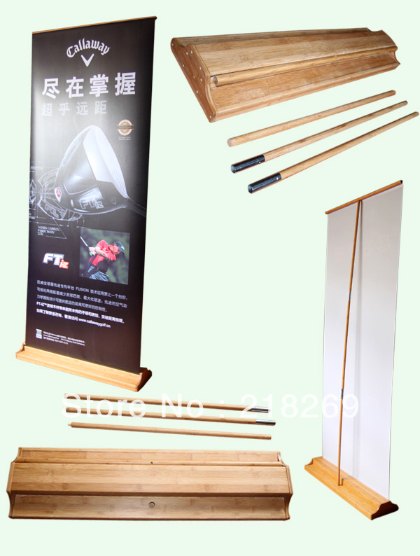 200X80cm Bamboo roll up banner, Bamboo pull up banner, roll-up display, Bamboo displays(China (Mainland))