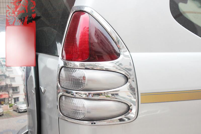 for toyota prado fj120 2003 2004 2005 2006 2007 2008 2009 chrome rear tail light lamp cover trim. Black Bedroom Furniture Sets. Home Design Ideas
