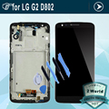 For LG Optimus G2 D802 D805 LCD touch screen with Digitizer full Assembly with frame replacement