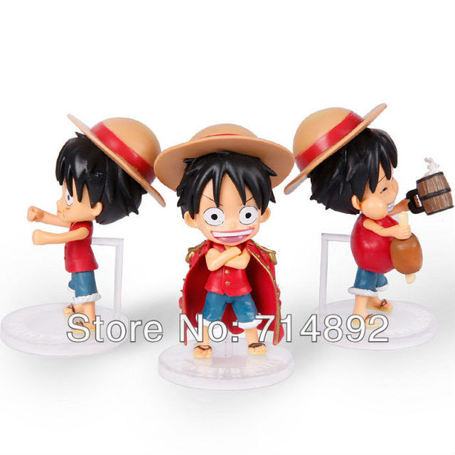 free shipping One Piece Luffy Nendoroid series ,Monkey D PVC Figure 11cm Height,For xmas Gift