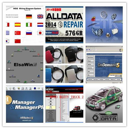 2015 Alldata 10.53+2014 Mitchell Ondemand total 47in1 in hard disk car repair software fit all 32&64bit windows 8/7/xp system(China (Mainland))
