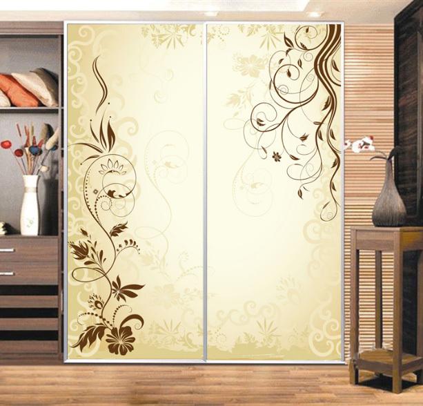 custom cabinet stickers closet sticker simple golden vine. Black Bedroom Furniture Sets. Home Design Ideas
