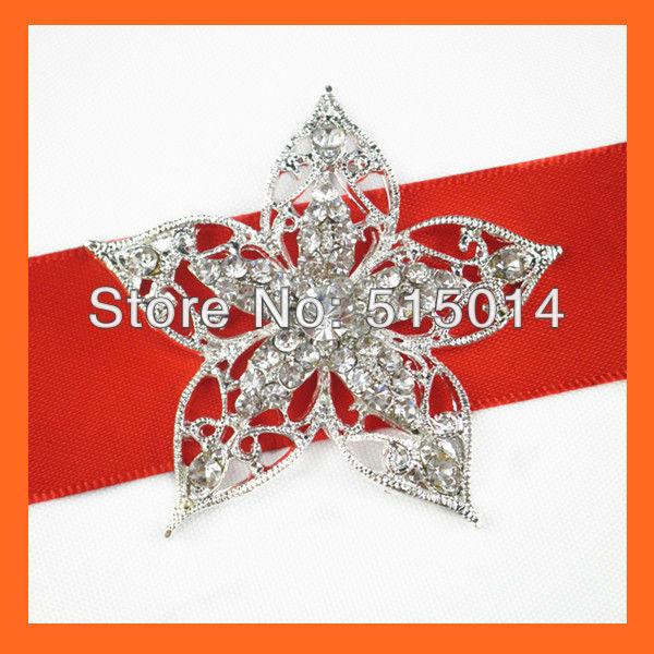Free Shipping !100pcs/lot 53mm Star Crystal Rhinestone Brooch Pins ,Wedding Bridal Pins,Rhinestone Embellishment