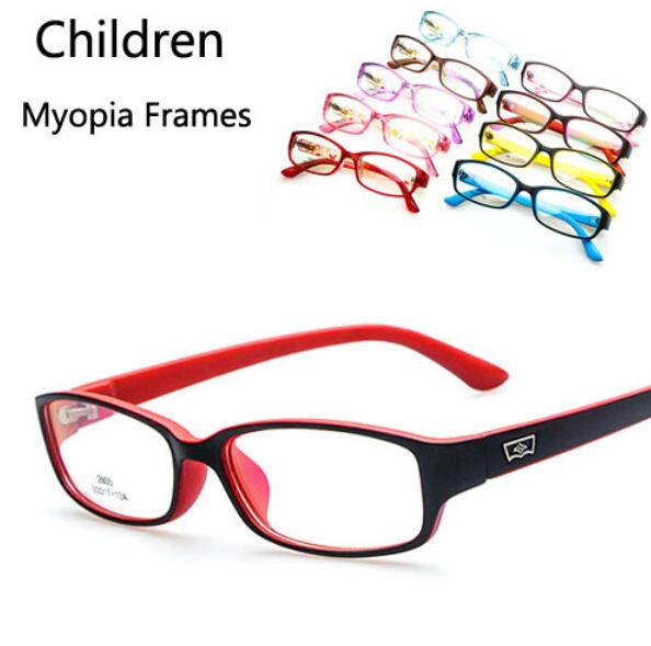 Fashion Multi Colors Children Boys Girls Myopia Glasses Frames New Kids Plain Mirror Eyeglasses - Top Discounters store