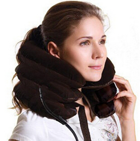 Air Cervical Soft Neck Brace Device Headache Back Shoulder Pain Cervical Traction Device Comfortable Neck Massage Relaxation(China (Mainland))