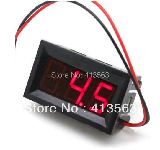FREE SHIPPING 2.5-30V (OR 4.5-30V ) DC Car Motor Red LED Digital Voltmeter Volt Voltage Panel Meter(China (Mainland))