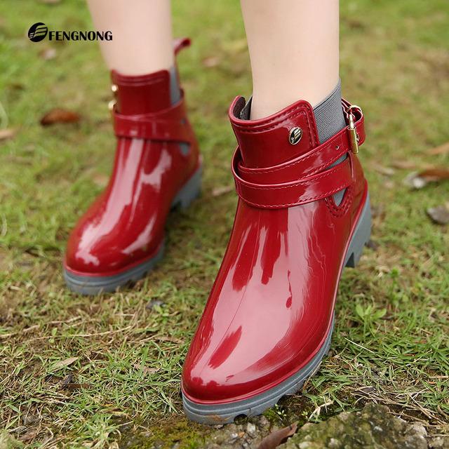 Резиновые Ботинки Женщин Дождь Сапоги Для Девочек Дамы Повседневная Прогулки Водонепроницаемая Резиновая Обувь Зима Осень Лодыжки Стрижи Женщина Rainboots
