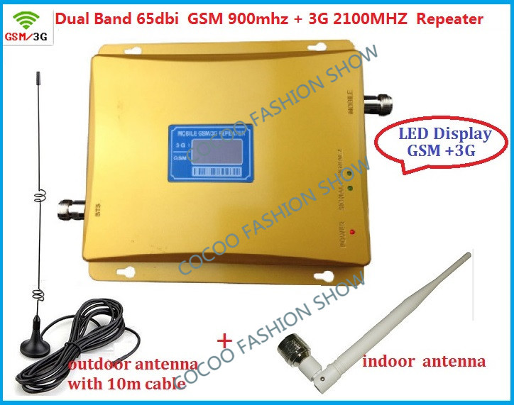 GSM 3G repeater newest dual band cell phone signal booster amplifier GSM900+WCDMA2100 full sets