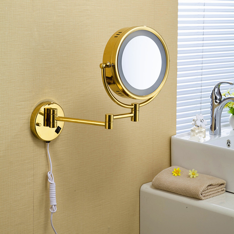 Buy free shipping 9 wall mounted round 3x 1x magnifying bathroom mirror led - Consider buying bathroom mirror ...