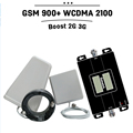 Double Displays GSM 900mhz 3G WCDMA 2100mhz Dual Band Phone Repeater Cell Phone Booster GSM 3G