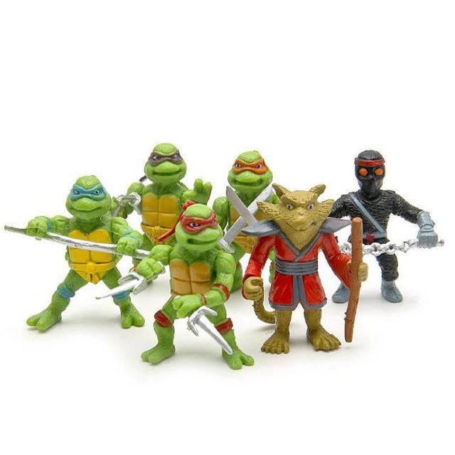 Teenage Mutant Ninja Turtles Фигурку Игрушки Набор TMNT Классический Фигурки Коллекция Модель 6 шт./лот