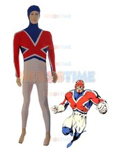 Captain Britain Costume Spandex  halloween cosplay Captain Britain Superhero costume The most popular zentai suit