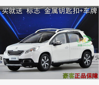 Peugeot 2008 SUV 1:18 car model alloy metal diecast origin high quality DONGFENG kids toy boy limit collection(China (Mainland))