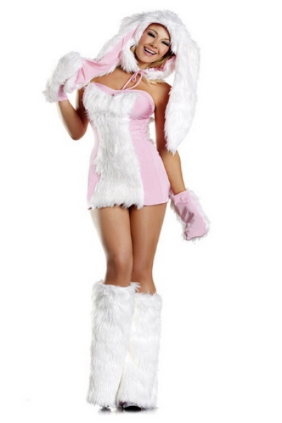 FREE PP! Sexy Pink Bunny Furry Costume Animal Fancy Dress Party Cosplay(China (Mainland))