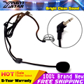 3 5mm Connector Wired Stereo Condenser Headset Microphone Headworn Earhook Mic Mikrofon Mike For Wireless BodyPack