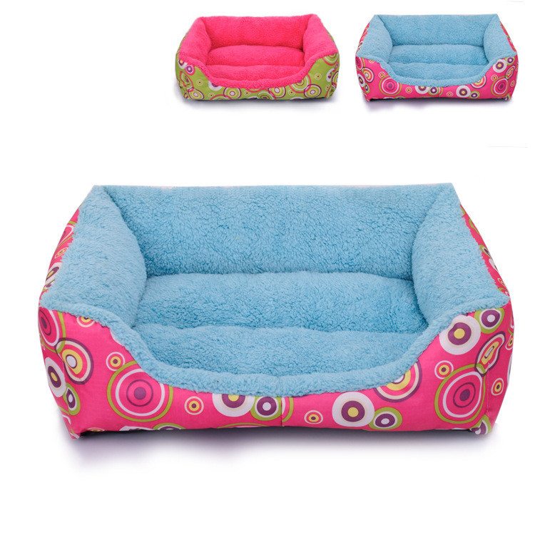Pet Dog Cat Kennel/Bed Cotton Velveteen Circle Fashion Square Kennel for Dogs and Cats Pet Dog House(China (Mainland))