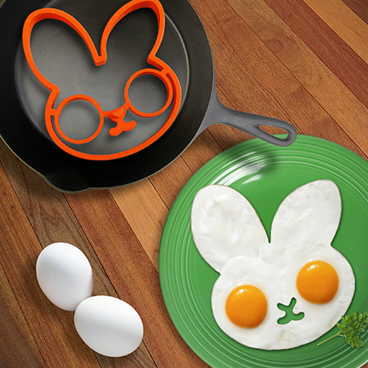 Hot Kitchen Gadgets Cooking Tools Breakfast Silicone Fried Egg Mold Rabbit Pancake Ring Cooking Eeg Kid Gift Kitchen Accessories