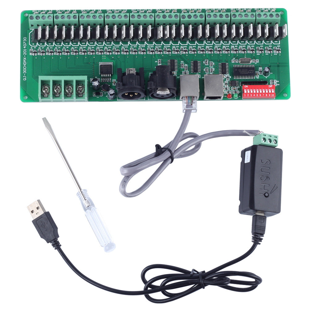30 channel Easy DMX rgb LED strip controller dmx512 decoder controlador dmx dimmer 12v console+USB DMX controller(China (Mainland))
