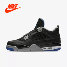 Officiel D'origine nike gs Air Jordan 4 Bleu femmes de basket-ball  chaussures 408452-006