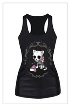 Girl's Sleeveless robot skeleton shirt
