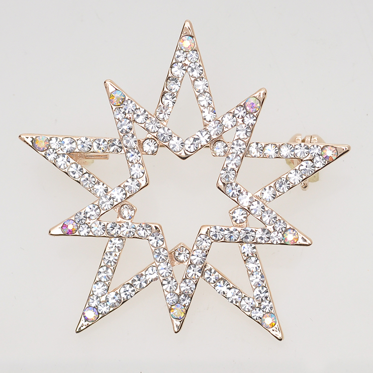 2015 Rushed Broches Newest Rhinestone Brooch Gold-plated Star Jewelry Pin Wholesale Handmade Cheap Brooches For Wedding Dresses(China (Mainland))