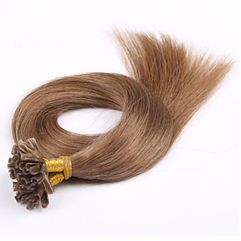 Wholesale 18inch/45cm Remy Brazilian Human Straight Nail Tip Hair Weaves 80g/pc Shedding Free Hair Weave Rose Hair Products