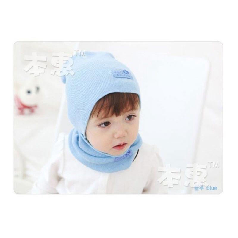Kids Fashion Winter Cap Baby Girls Boys Hat Warm Hat Children Hat and Scarf set 1set