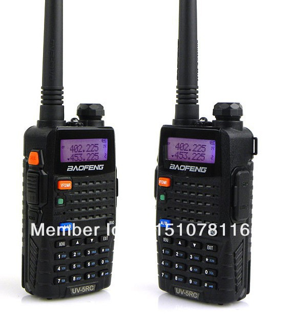 DHL Freeshipp+2 pcs/pair baofeng walkie talkie baofeng UV-5RC handheld dual-band uhf vhf radio portable ham radio uv5rc bf-uv5rc(China (Mainland))
