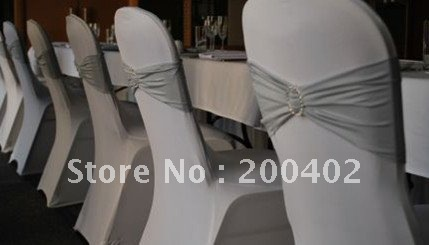 spandex band with rhinestone  for chair covers/spandex band