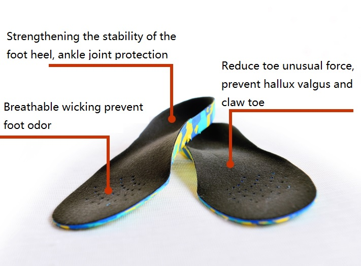 Children foot care shoes Accessories insoles flatfoot correction insoles orthotics arch support toes valgus treatment(China (Mainland))