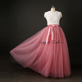 Best Quality 7 Layers 100cm Long Tulle Skirts Womens Pleated Skirt Fashion Wedding Bridal Bridesmaid
