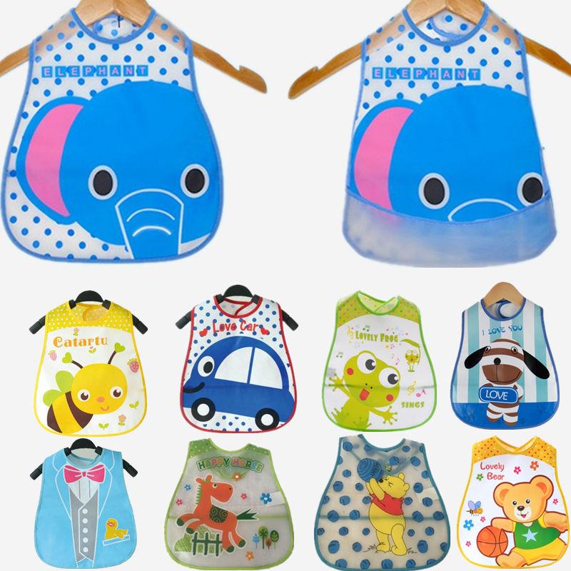 20 Styles Baby Bibs EVA Waterproof Lunch Bibs Boys Girls Infants Cartoon Pattern Bibs Burp Cloths For Children Self Feeding Care(China (Mainland))