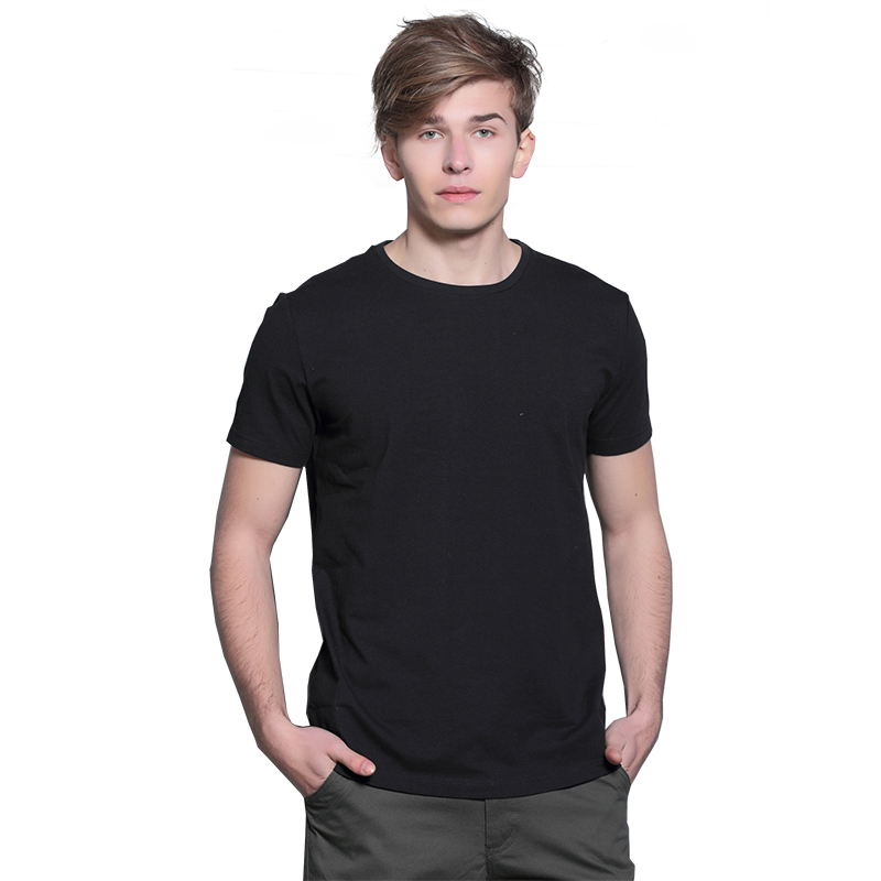 Men's Tops Tees 2016 Summer New Cotton O-neck Short Sleeve T shirts Men Fashion Trends Fitness Solid Tshirt Free Shipping S-3XL(China (Mainland))
