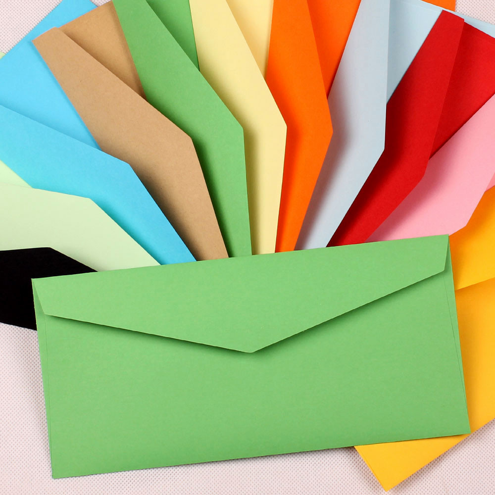 Гаджет  10.5*22cm Kraft Paper Envelope Gift Invitations Greeting Cards Stationery Decoration Envelope Postcard Photos Packaging Bag None Офисные и Школьные принадлежности