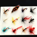 12pcs Fly Fishing Lure Set 4 Style Insect Artificial Fishing Bait Feather Single Treble Hooks Carp